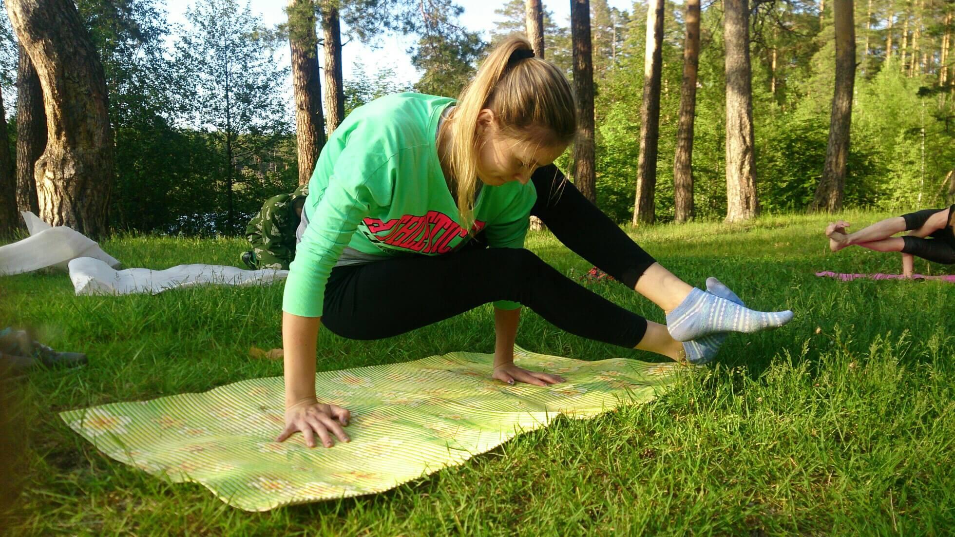 Йога в лесу Павлово